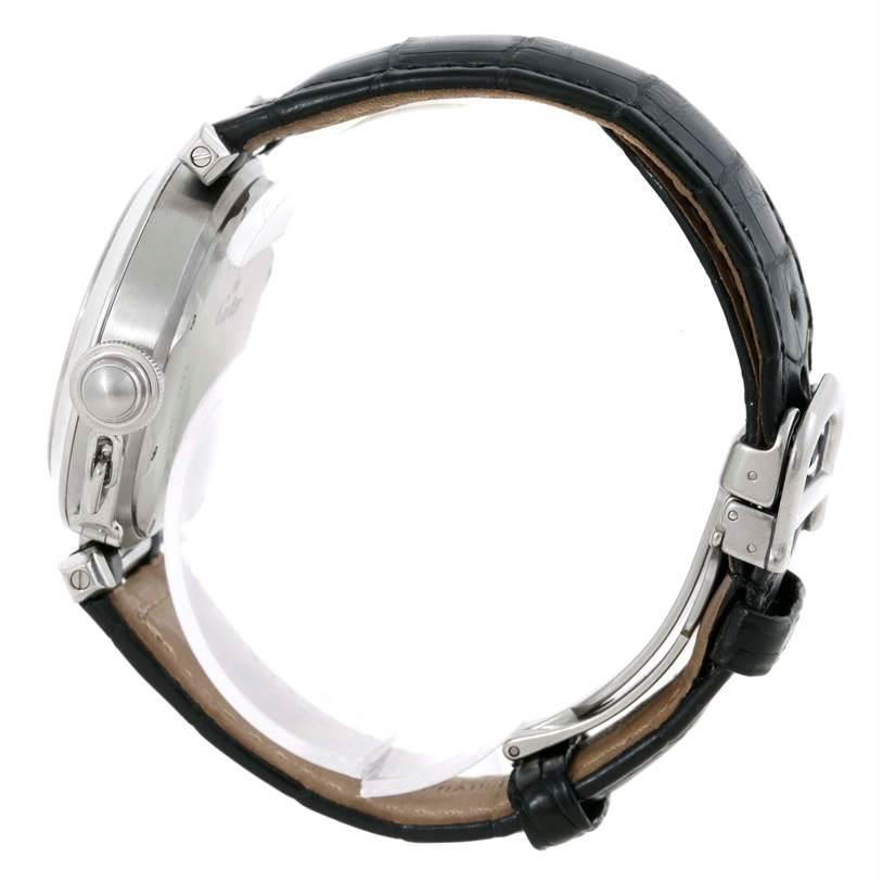 Cartier Pasha C Midsize Steel Watch Big Date W31044M7 SwissWatchExpo
