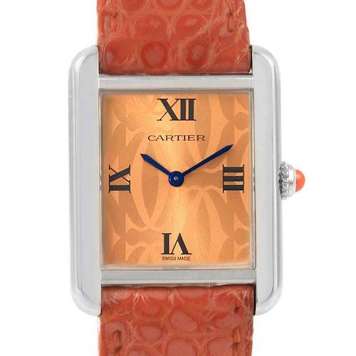 Photo of Cartier Tank Solo Orange Dial Limited Edition Ladies Watch W1019455