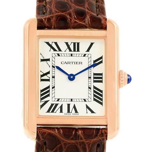 Photo of Cartier Tank Solo Rose Gold Steel Ladies Watch W5200024 Unworn