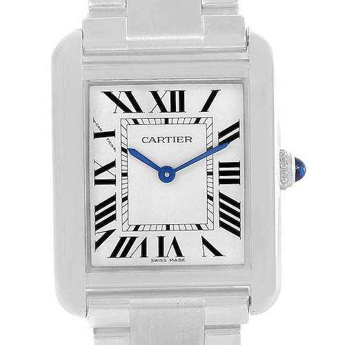 Photo of Cartier Tank Solo Small Stainless Steel Ladies Watch W5200013