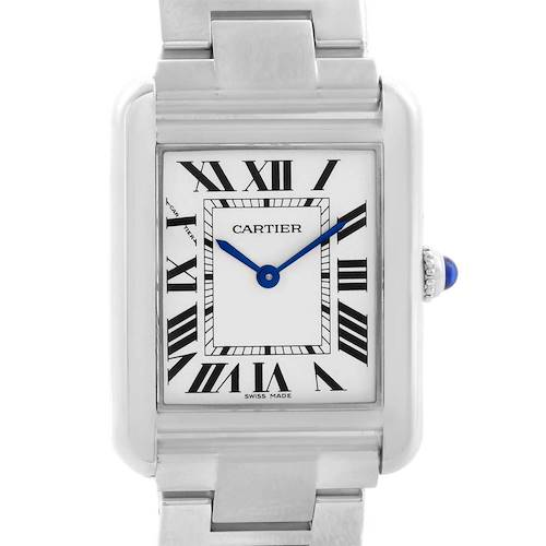 Photo of Cartier Tank Solo Silver Dial Stainless Steel Ladies Watch W5200013