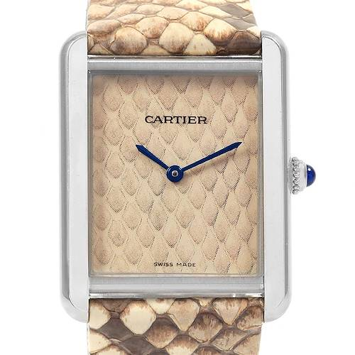 Photo of Cartier Tank Solo Python Steel Ladies Watch W5200020 Box Papers