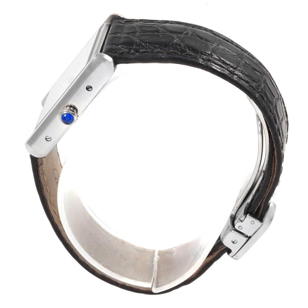 20131 Cartier Tank Solo Ladies Steel Black Strap Quartz Watch W1018255 SwissWatchExpo