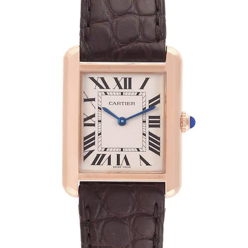 Photo of Cartier Tank Solo Rose Gold Steel Brown Dial Ladies Watch W5200024