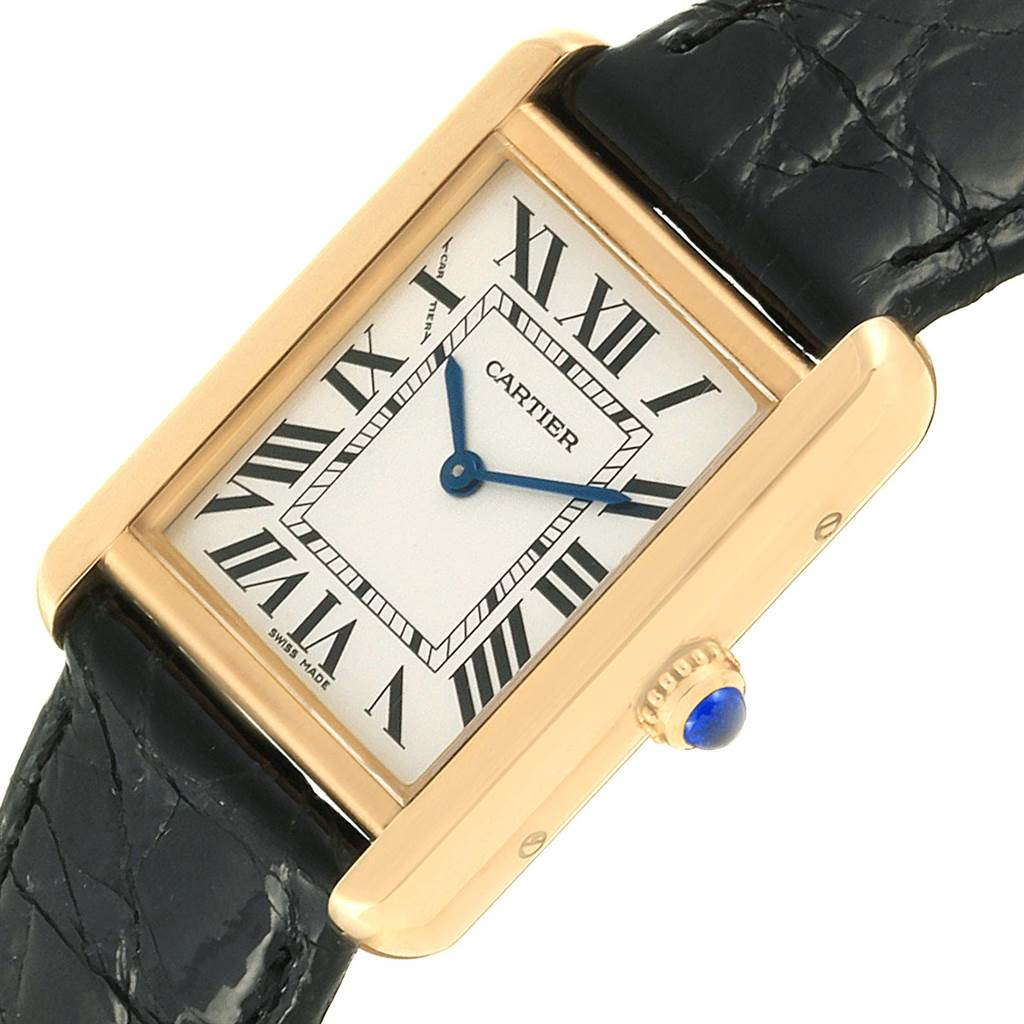 22640 Cartier Tank Solo Yellow Gold Steel Ladies Watch W1018755 Box Papers SwissWatchExpo