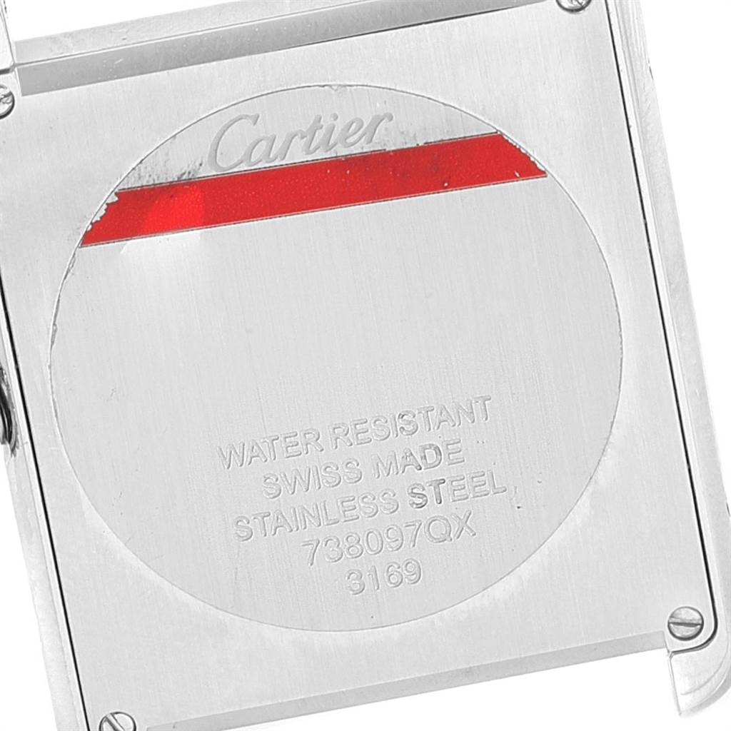Cartier Tank Solo Python Pattern Steel Ladies Watch W5200020 SwissWatchExpo