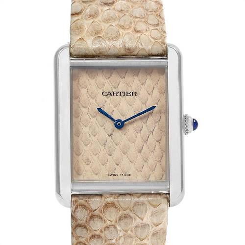 Photo of Cartier Tank Solo Python Pattern Steel Ladies Watch W5200020
