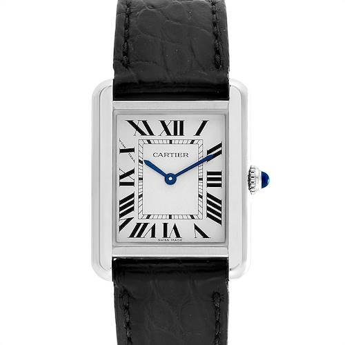 Photo of Cartier Tank Solo Steel Black Strap Ladies Watch W5200005 Papers