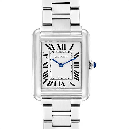 Photo of Cartier Tank Solo Silver Dial Small Steel Ladies Watch W5200013