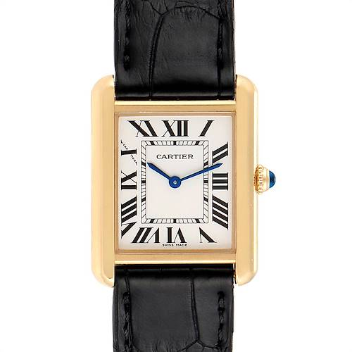 Photo of Cartier Tank Solo Yellow Gold Steel Ladies Watch W1018755 Partial Payment
