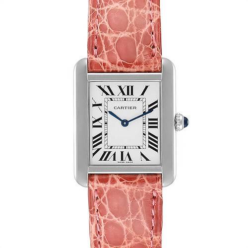 Photo of Cartier Tank Solo Steel Pink Strap Ladies Watch W5200005