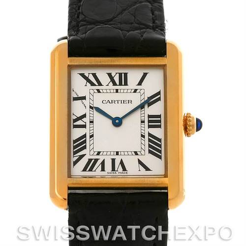 Photo of Cartier Tank Solo Small Gold Steel Watch W1018755
