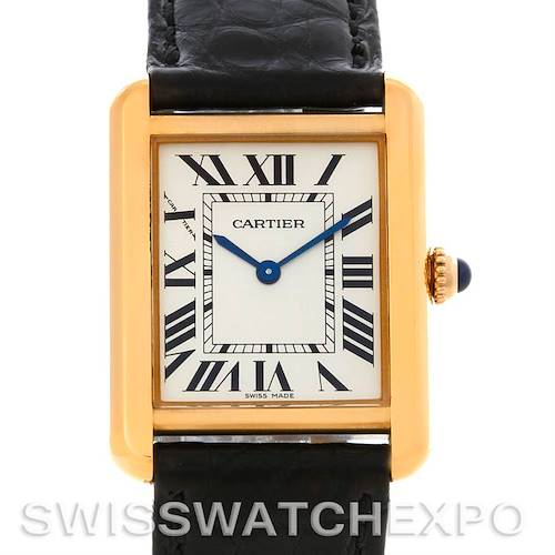 Photo of Cartier Tank Solo Small Gold and Steel Watch W1018755