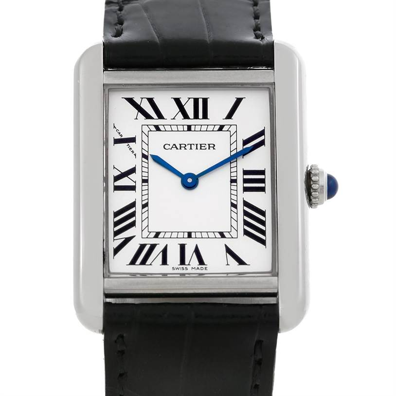 5046 Cartier Tank Solo Ladies Steel Watch W1018255 SwissWatchExpo