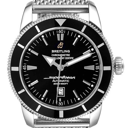 Photo of Breitling Superocean Heritage 46mm Black Dial Steel Mens Watch A17320