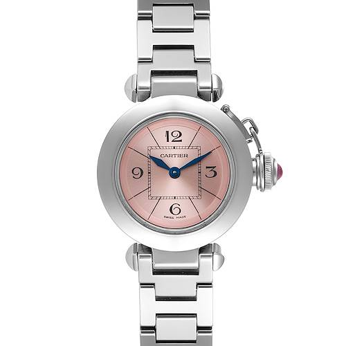 Photo of Cartier Miss Pasha Steel Pink Dial Ladies Watch W3140008 Box Papers