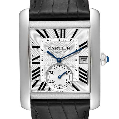 Photo of Cartier Tank MC Silver Dial Steel Mens Watch W5330003 Box Papers
