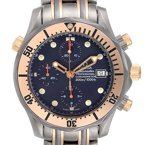 Photo of Omega Seamaster 41mm Titanium 18K Rose Gold Mens Watch 2296.80.00