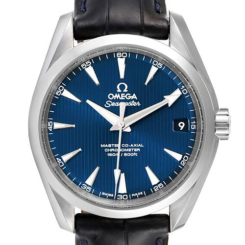 Photo of Omega Seamaster Aqua Terra Blue Dial Watch 231.13.39.21.03.001 Box Card