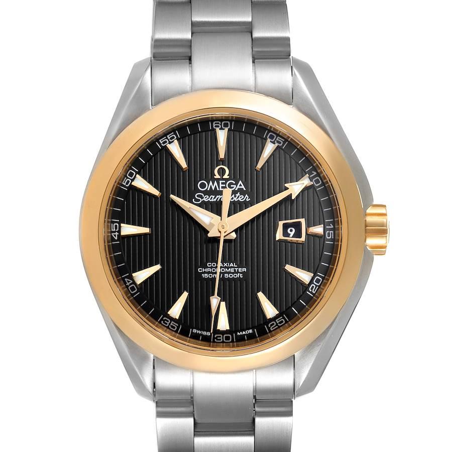 Omega Seamaster Aqua Terra Steel Yellow Gold Watch 231.20.34.20.01.004 Box Card SwissWatchExpo