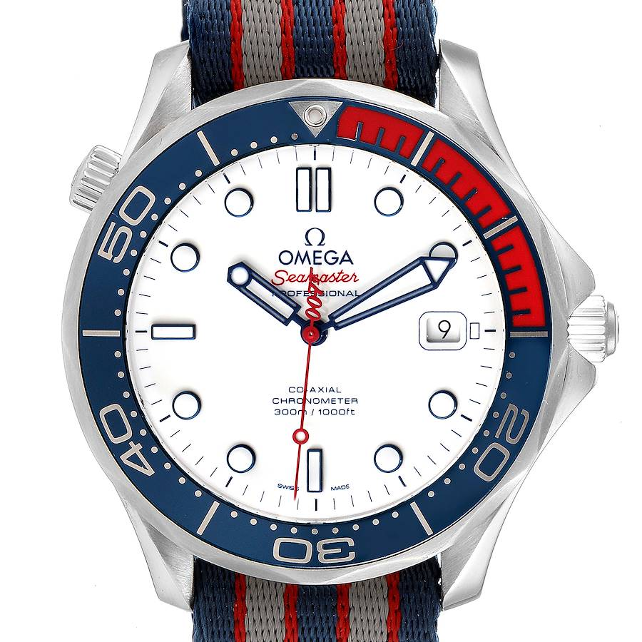 Omega Seamaster James Bond Co-Axial Watch 212.32.41.20.04.001 Box Papers SwissWatchExpo