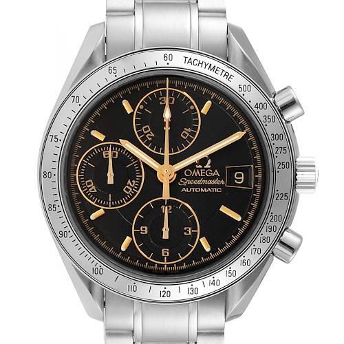 Photo of Omega Speedmaster Date Black Dial Steel Mens Watch 3513.54.00