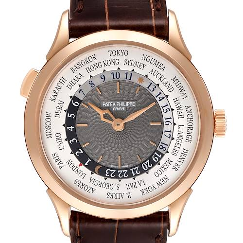 Photo of Patek Philippe World Time Complications Rose Gold Watch 5230R Box Papers