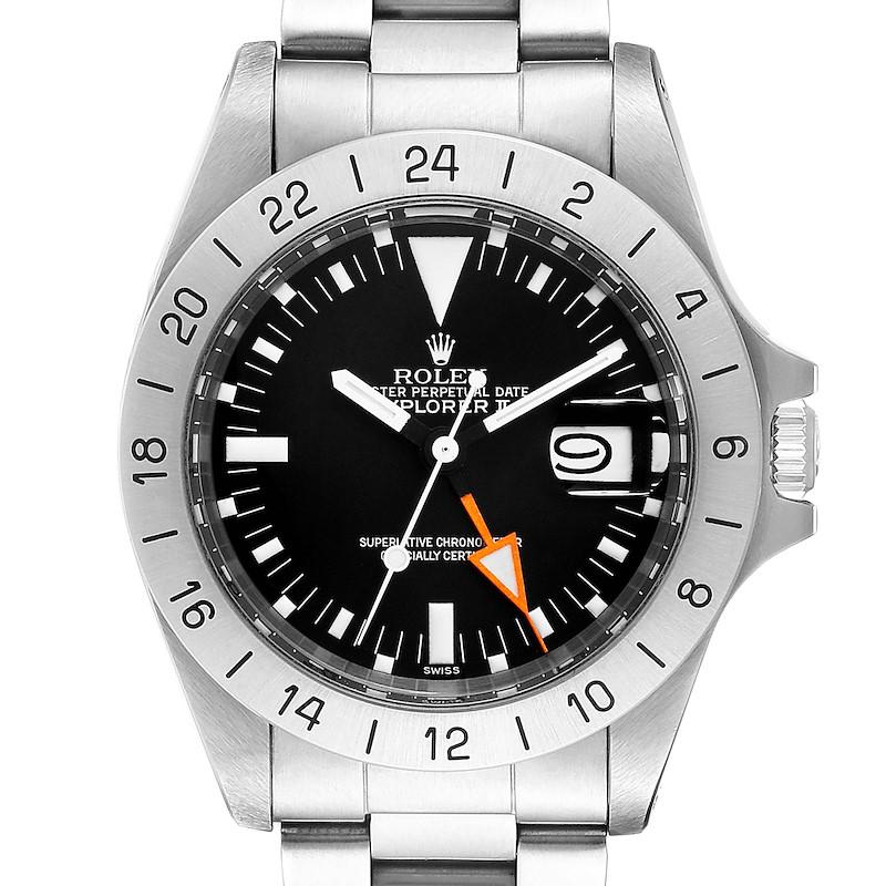Rolex Explorer II Steve Mcqueen Vintage Steel Mens Watch 1655 SwissWatchExpo