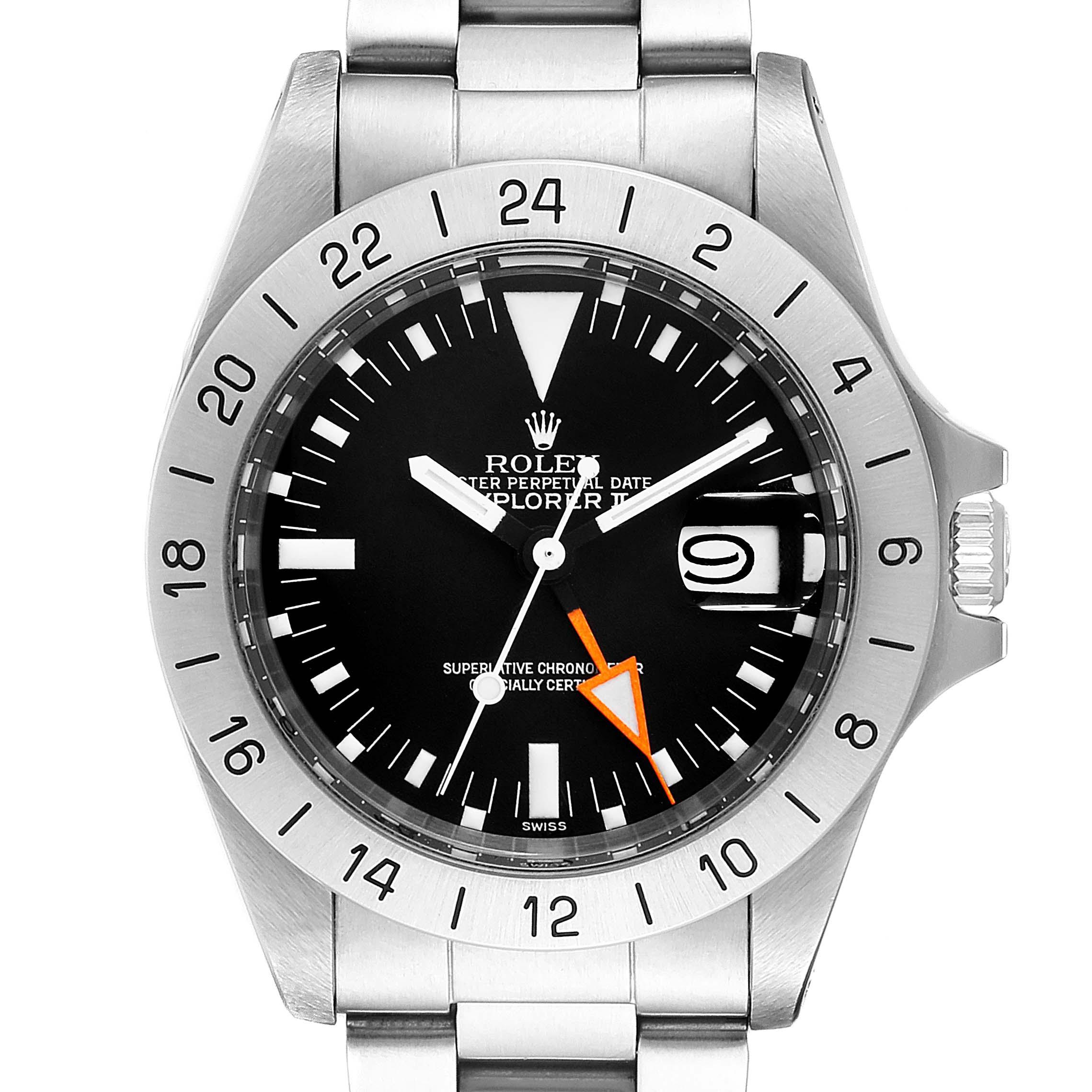 Rolex Explorer II Steve Mcqueen Vintage Steel Mens Watch 1655
