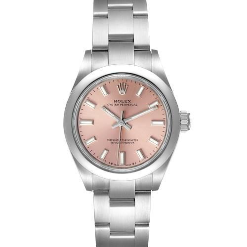 Photo of Rolex Oyster Perpetual Pink Dial Steel Ladies Watch 276200 Unworn