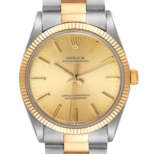 Photo of Rolex Oyster Perpetual Steel 18K Yellow Gold Vintage Mens Watch 1005