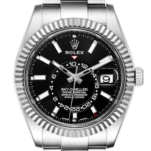 Photo of Rolex Sky-Dweller Black Dial Steel White Gold Mens Watch 326934 Unworn