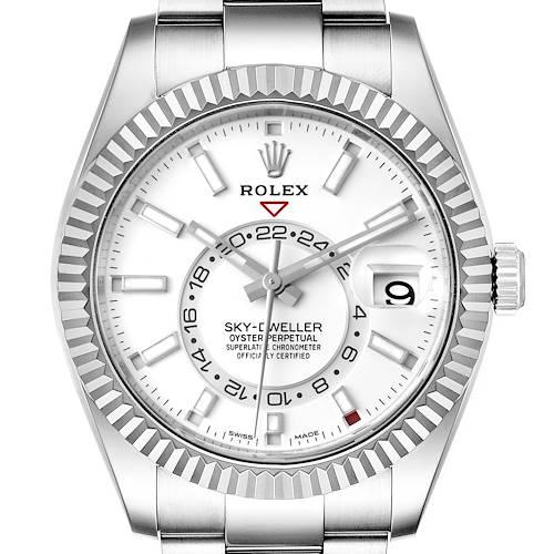 Photo of Rolex Sky-Dweller White Dial Steel White Gold Mens Watch 326934 Unworn