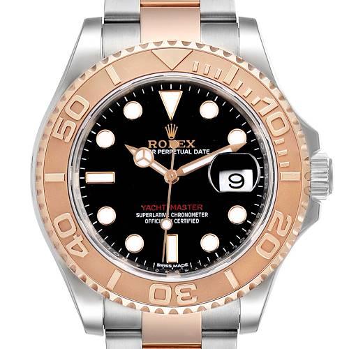Photo of Rolex Yachtmaster 40 Everose Gold Steel Black Dial Mens Watch 116621 Unworn