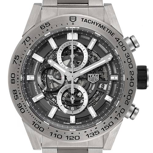 Photo of TAG Heuer Carrera Calibre Heuer 01 Skeleton Mens Watch CAR2A8A Box Papers