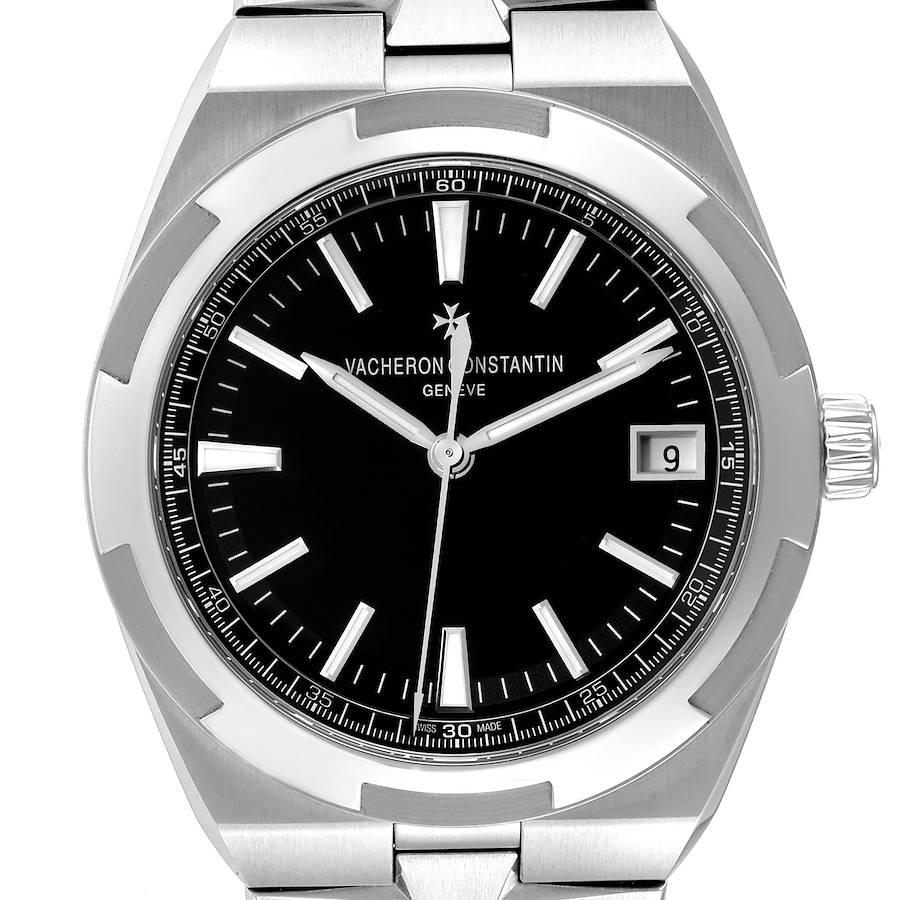 Vacheron Constantin Overseas Black Dial Steel Mens Watch 4500V Box Papers SwissWatchExpo