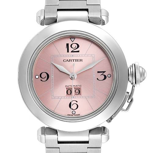 Photo of Cartier Pasha Big Date 35 Pink Dial Automatic Steel Ladies Watch W31058M7
