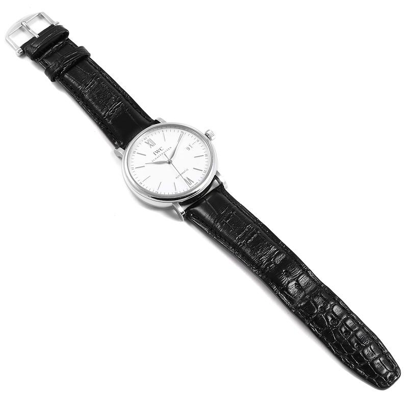 IWC Portofino Silver Dial Automatic Steel Mens Watch IW356501 SwissWatchExpo
