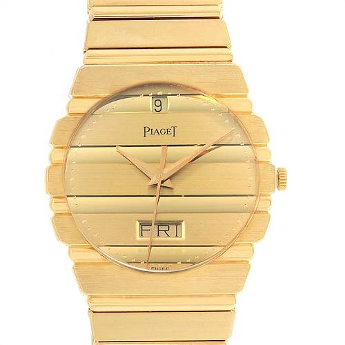 Photo of Piaget Polo 18K Yellow Gold Day Date Mens Watch 15562c701