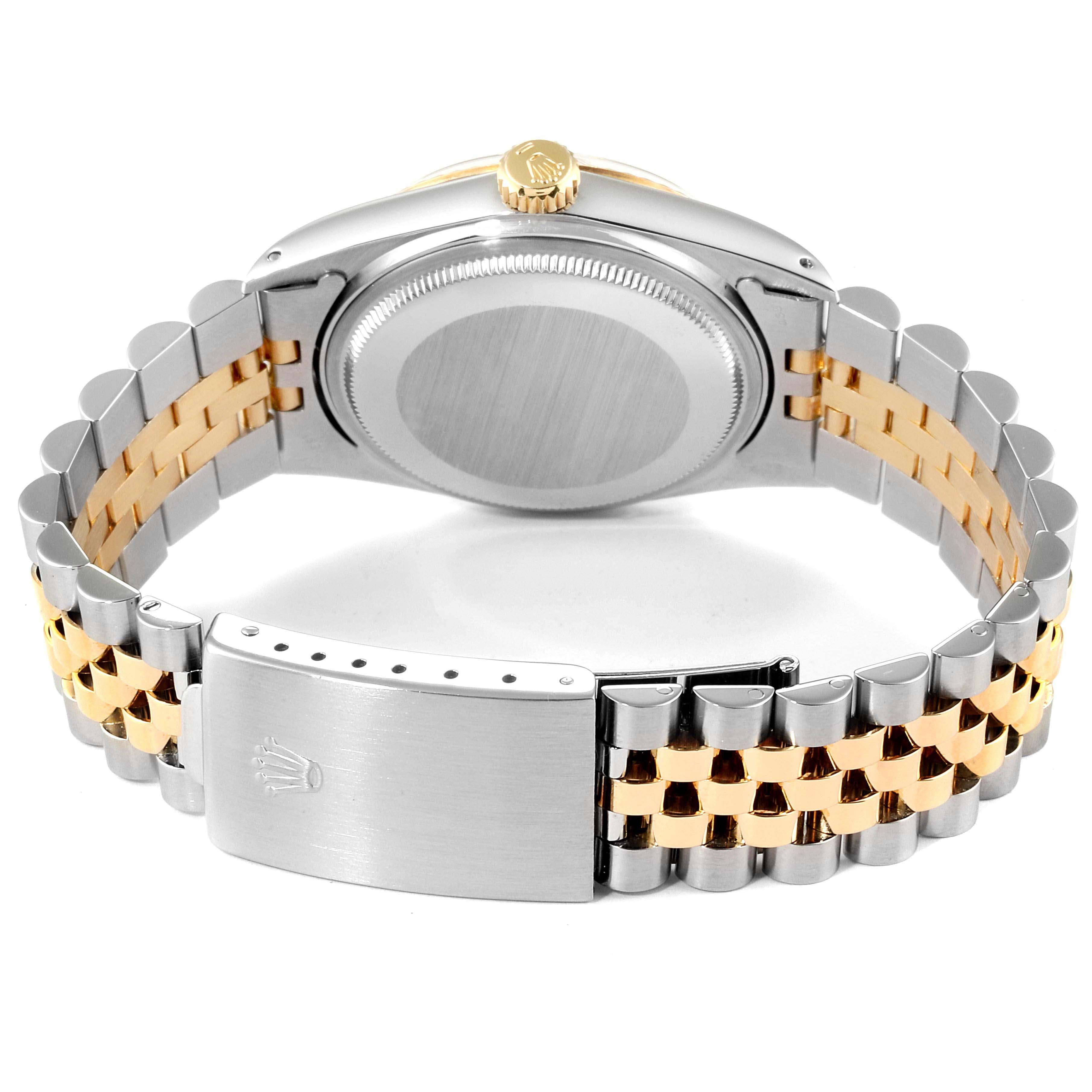 Rolex Datejust Steel Yellow Gold Buckley Dial Mens Watch 16013 Box SwissWatchExpo