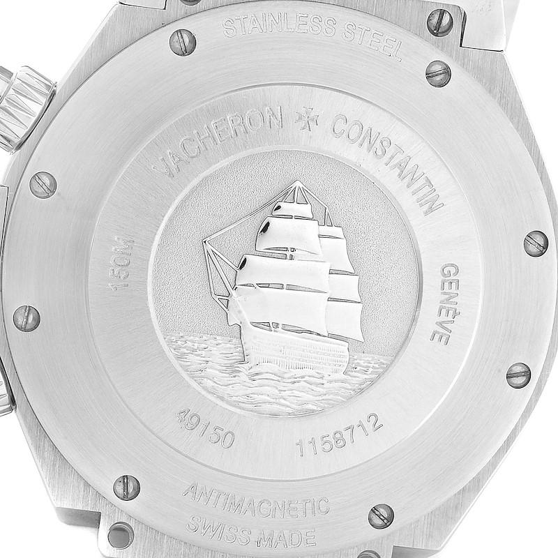 Vacheron Constantin Overseas Black Dial Mens Watch 49150 Box Papers SwissWatchExpo