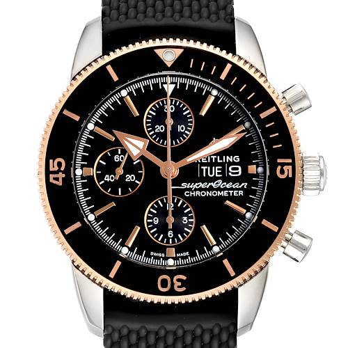 Photo of Breitling Superocean Heritage II Steel Rose Gold Watch U13313 Box Papers