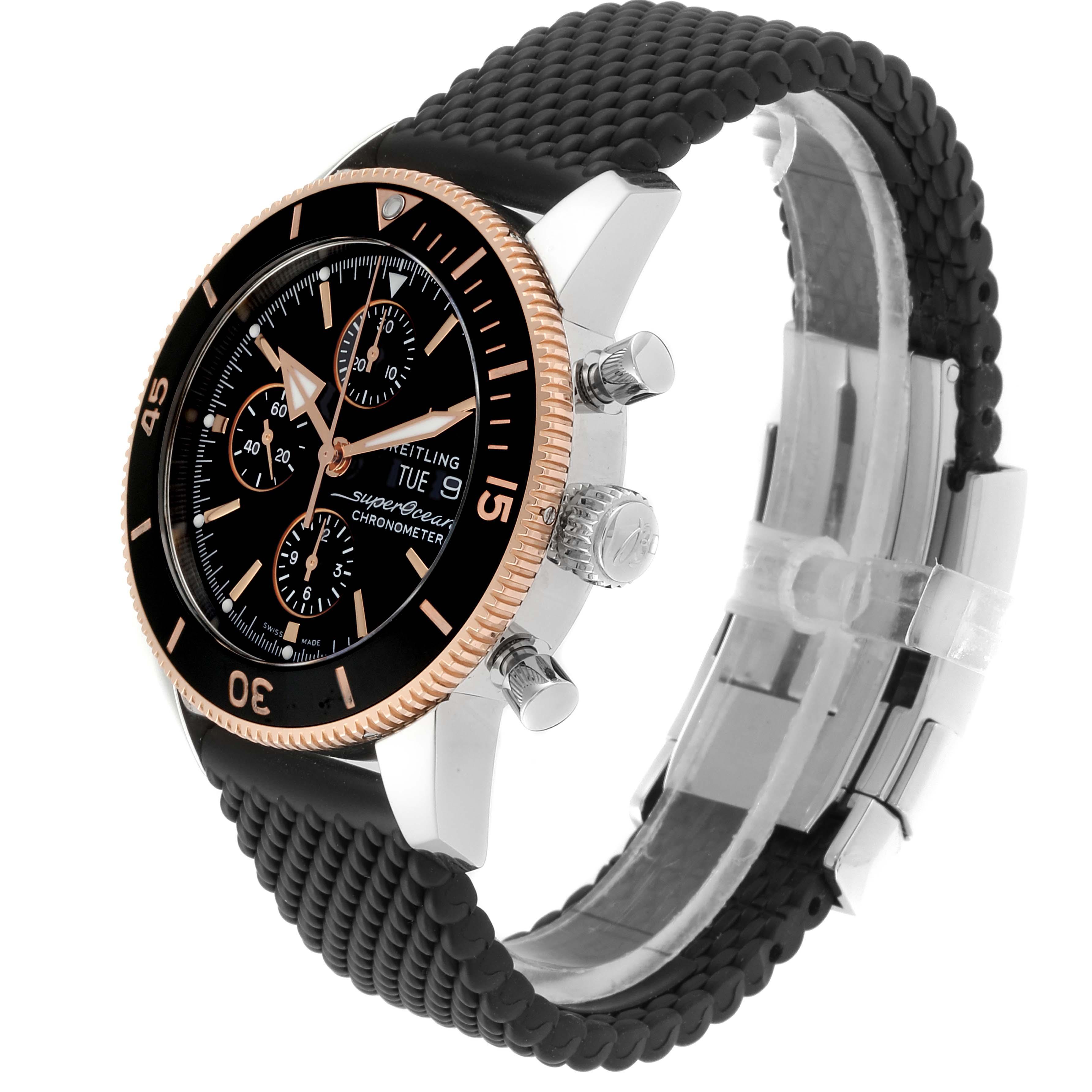 Breitling Superocean Heritage II Steel Rose Gold Watch U13313 Box Papers SwissWatchExpo