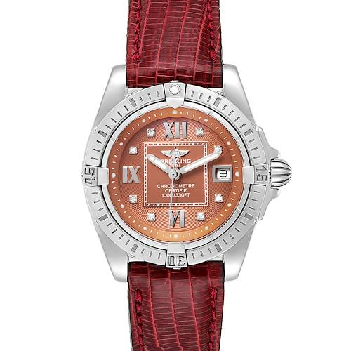 Breitling Windrider Cockpit Bronze Diamond Dial Ladies Watch A71356 Box Papers