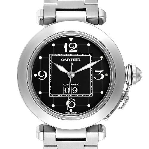 Photo of Cartier Pasha C Midsize Black Dial Automatic Ladies Watch W31053M7