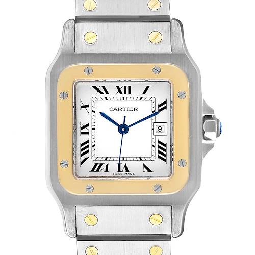Photo of Cartier Santos Galbee 29mm Steel Yellow Gold Mens Watch 187901