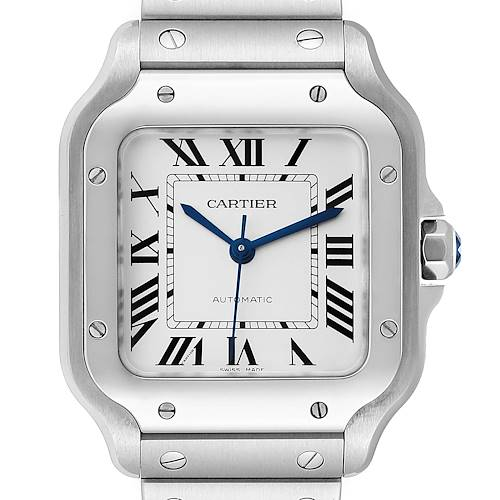 Photo of Cartier Santos Galbee Medium Steel Mens Watch WSSA0010 Unworn