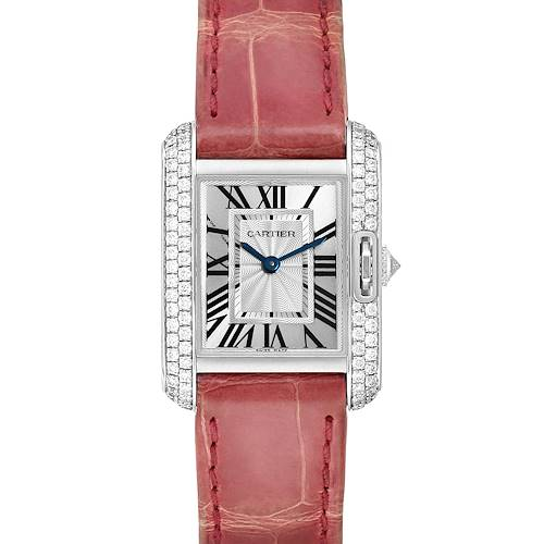 Photo of Cartier Tank Anglaise White Gold Diamond Ladies Watch WT100015 Box Papers