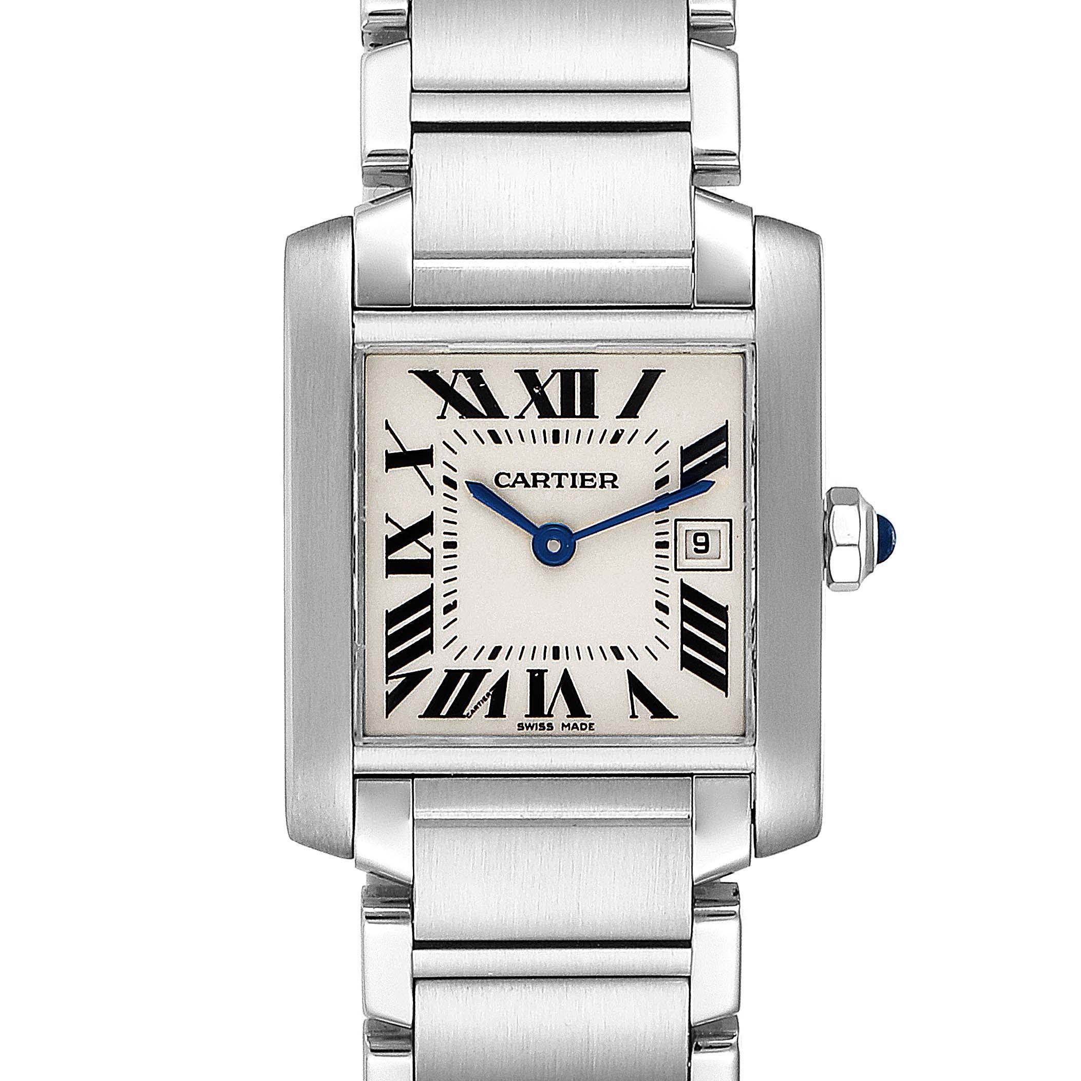 Cartier Tank Francaise Midsize 25mm Ladies Watch W51011Q3 Box