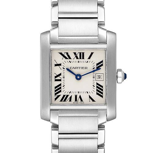 Photo of Cartier Tank Francaise Midsize 25mm Ladies Watch W51011Q3 Box